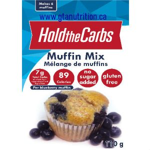 Hold The Carbs Low Carb Muffin Mix small bag 110g |Low Carb Muffin Mix, Gluten Free Muffin Mix, Vegan Muffin Mix - with SteviaTo make Low Carb Muffins, Gluten Free Muffins