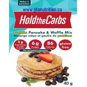Hold The Carbs Low Carb Protein Pancake & Waffle Mix small bag 40g |Low Carb, Gluten Free, Vegan, with Stevia.