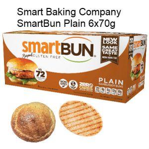 Smart Baking Company SmartBun Plain 6x70g | Zero Carb, Gluten Free, High Protein, High Fiber, NON GMO, Diabetic Friendly