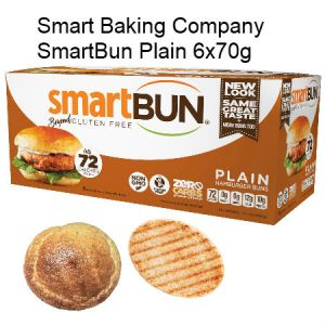 Smart Baking Company SmartBun Plain 6x70g | Zero Carb, Gluten Free, High Protein, High Fiber, NON GMO, Diabetic Friendly