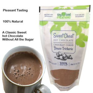 Tiny Toad Creations Sweet Cheat Sweet Cheat Hot Chocolate 150g. High Fiber, Low Carb, Zero Percent Sugar, Hundred Percent Natural