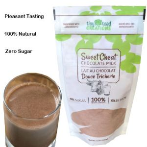 Tiny Toad Creations Sweet Cheat Chocolate Milk 150g. High Fiber, Low Carb, Zero Percent Sugar, Hundred Percent Natural