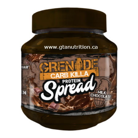 Grenade Carb Killa Protein Spread Milk Chocolate 360g | Low Carb, Less Calories, 89% Less Sugar 20% Protein, NON GMO, Vegetarian, NON Artificial Flavor