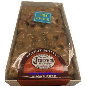 Judy's Sugar Free Peanut Brittle 217g. Hard Hand Made Candy, Low Carb, Diabetic Friendly