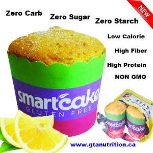 Smartcake Lemon 60g. Zero Carb, Zero Sugar, Zero Starch, Low Calorie, High Fiber, High Protein, NON GMO