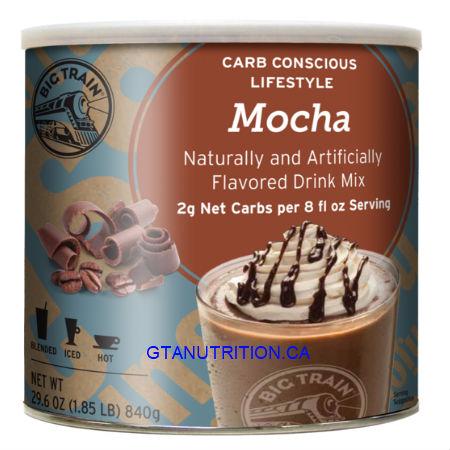 Big Train Low Carb Blended Ice Mocha Mix 1.85LB. Low Carb, No Added Sugar, Diabetic Friendly, Kosher.
