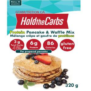 Hold The Carbs Low Carb Protein Pancake & Waffle Mix Large Bag 320g | Diabetic Friendly, Low Carb, Gluten Free, Vegan, with Stevia.