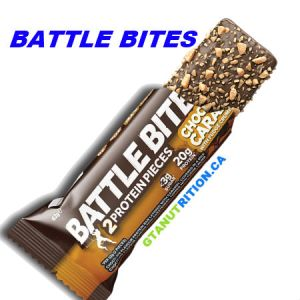 Battle Bites Protein Bar Chocolate Caramel 62g | Low In Sugar 1.5g per bits, GMO FREE, No Hydrogenated Oil, Tastiest Low Carb Protein Bar In The Market - Made In Britain