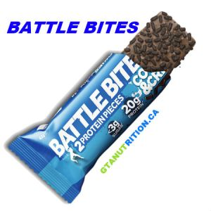 Battle Bites Protein Bar Cookies and Cream 62g | Low In Sugar 1.5g per bits, GMO FREE, Tastiest Low Carb Protein Bar In The Market - Made In Britain