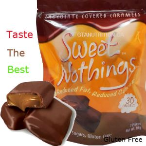 Sweet Nothings Chocolate Covered Caramels 84g | 30 Calories per one piece, 1g Fat Each! Only 30 calories and 3 net carbs per serving size! Great for all diets including Keto, Weight Watchers (1 SmartPoint per piece), South Beach, Atkins and Dr. Poon Diet! - Gluten Free, Kosher