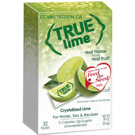 True Citrus Unsweetened and Sugar Free True Lime 32 Packets. Real Flavor From Real Fruit. Crystallized Lime. Low Calories, NON GMO, No Artificial Sweetener or Preservatives, Natural Flavor, Gluten Free