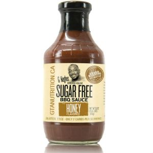 G Hughes Sugar Free BBQ Sauce Honey 510g. Sugar free, Gluten-free.