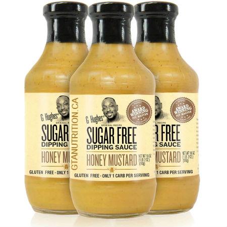 G Hughes Sugar Free Dipping Sauce Honey Mustard 510g. Sugar free, Gluten-free.
