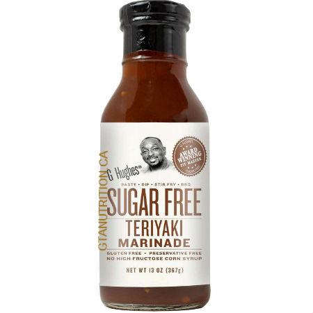 G Hughes Sugar Free Teriyaki Marinade 367g. Sugar free, Gluten-free.