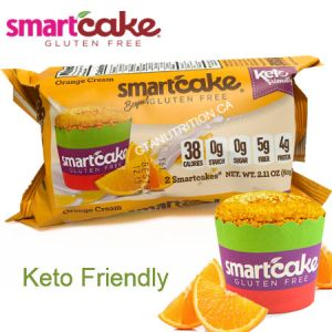 Smart Baking Company Smartcake Orange Cream 60g | Zero Carbs, Gluten Free, Low Calorie, Keto Friendly, Diabetic Friendly, NON GMO
