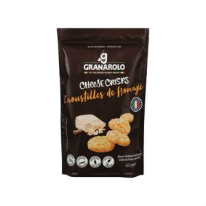 Granarolo Cheese Crisps Classic 60g. Gluten Free, Lactose Free, Zero carb, Oven Baked, High Protein, Lactose free, Vegetarian...