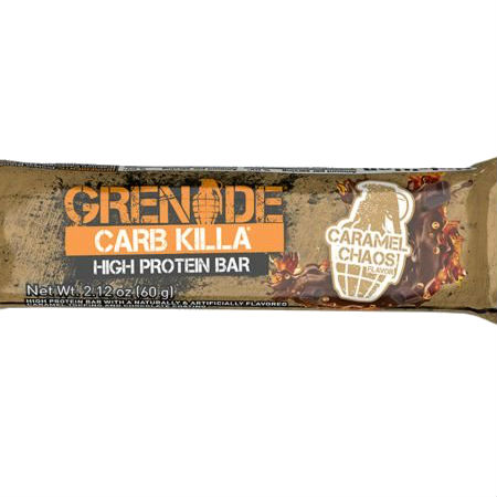 Grenade Carb Killa High Protein bar Caramel Chaos l Trusted by sport, 21g protein, low carb, Made in UK, Trans fat free...
