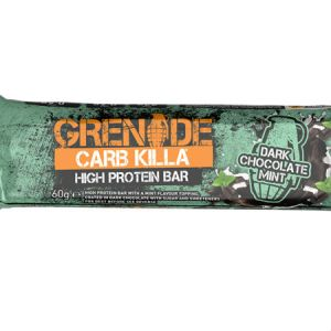 Grenade Carb Killa High Protein bar Dark chocolate Mintl Trusted by sport, 22g protein, low carb, Made in UK, Trans fat free...