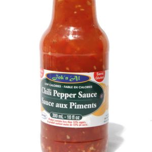 Jok-N-Al Chilli Pepper Sauce l Gluten Free, Low Calorie, Diabetic friendly, Low carb, Full rich taste, Made with splenda.