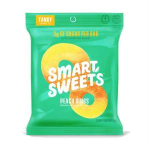 Smart Sweets Tangy Peach Rings Free From Sugar Alcohol 50g | Kick Sugar Keep Candy.. Every ingredient they use is non-GMO.