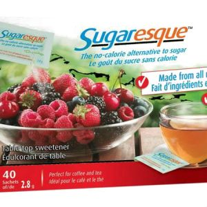 Sugaresque 112g l Alternative to sugar, Made from all natural ingredients, ZERO carb, calorie and fat. Perfeect for coffe and tea.