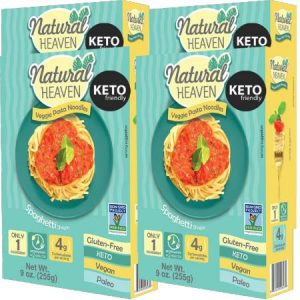 Natural Heaven Veggie Pasta Noodles Spaghetti Shape 255g. Gluten free, Vegan, Zero cholesterol, Non GMO, Low carb and calorie...