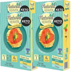 Natural Heaven Veggie Pasta Noodles Spaghetti Shape 255g. Gluten free, Vegan, Zero cholesterol, Non GMO, Low carb and calorie...