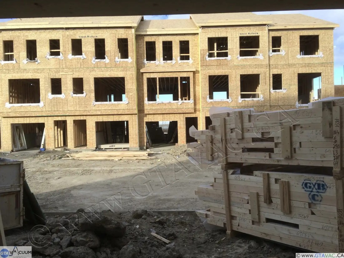 Central Vac New Construction Town Homes NW Caglary AB Before 1 1