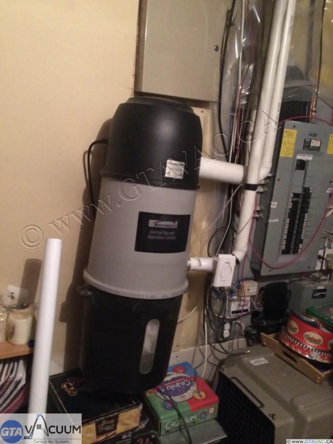 Kenmore Black Central Vacuum GTA Vacuum Recent Project Gallery 1