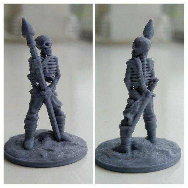 3D Printed skeleton from FDG
