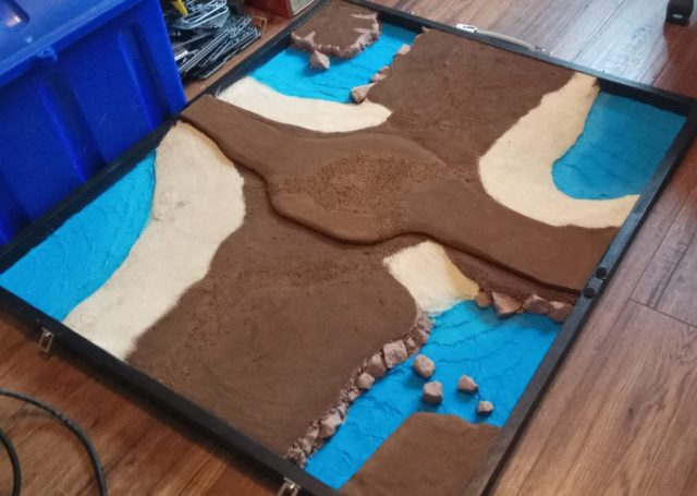 Island board fully primed
