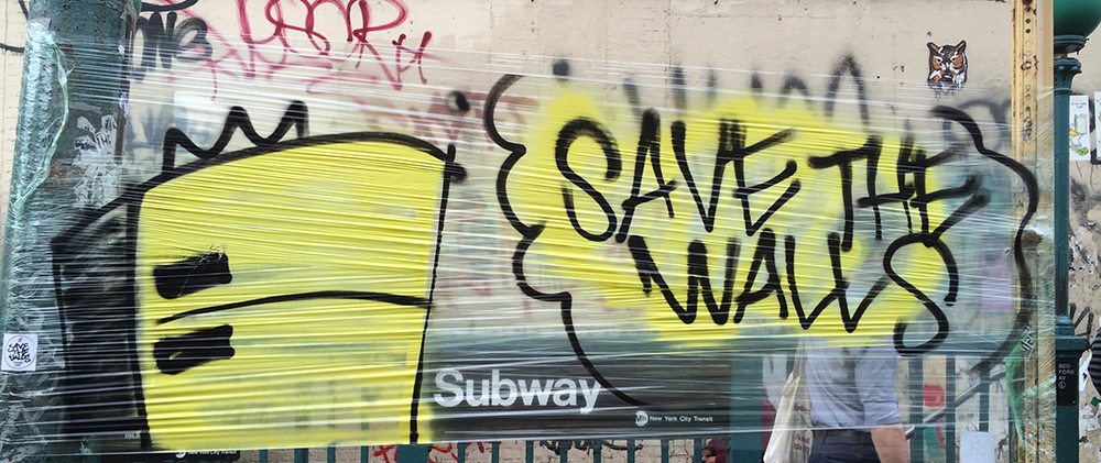 NYC Street Art - Save the Walls