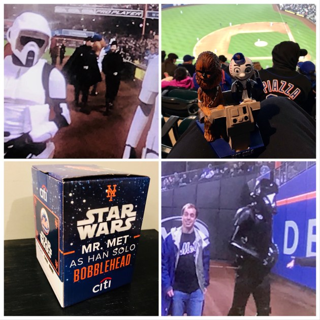 Mr. Met as Han Solo and Chewbacca Bobble Head