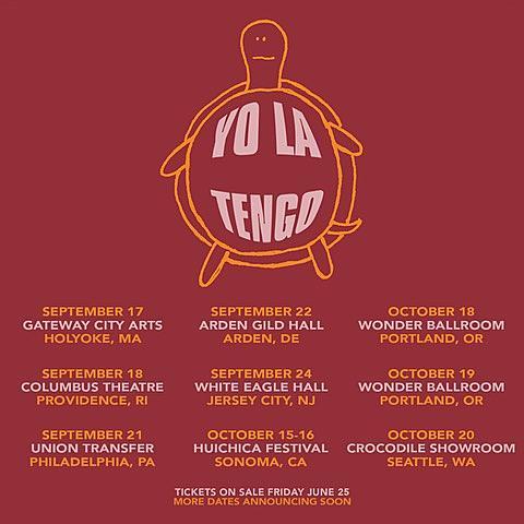 Yo La Tengo 2021 Tour Dates