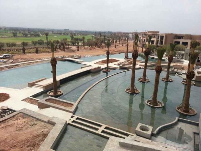 Vue Bassins Royal Palm Marrakech