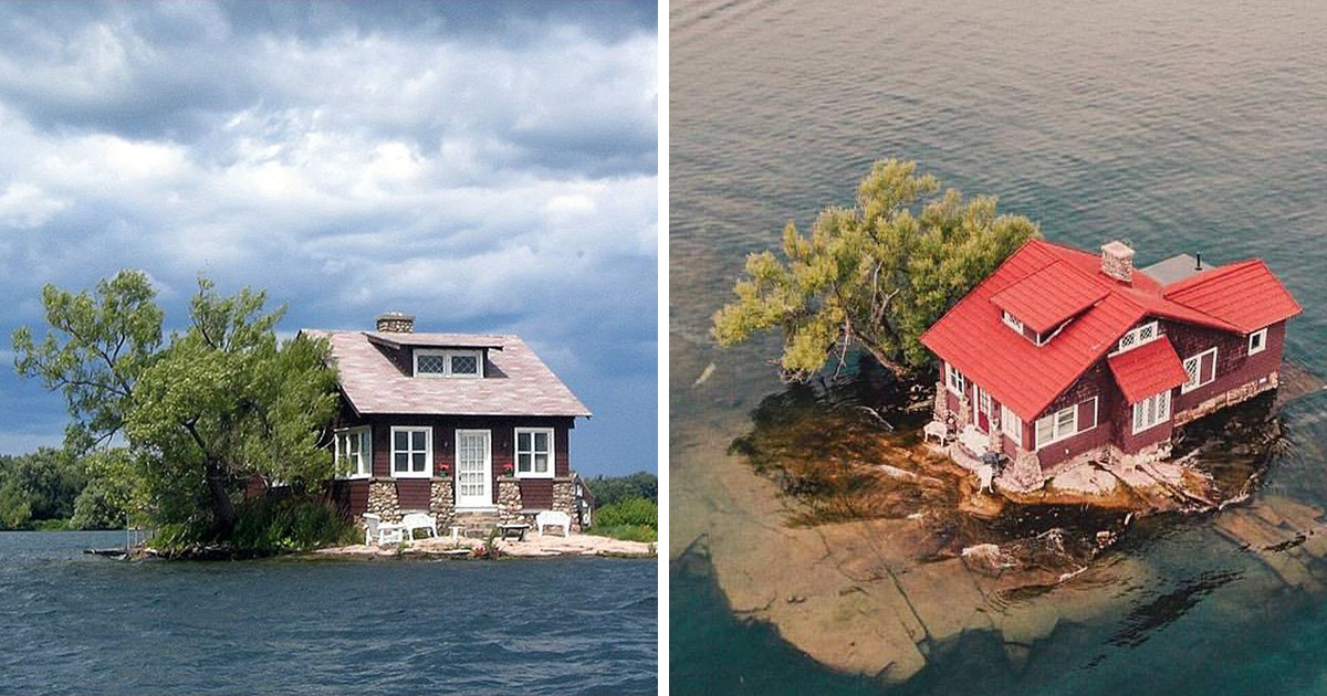 """The world's smallest island, aptly named """"Just Room Enough"""" island, is no  bigger than a standard tennis court - Good Times"""