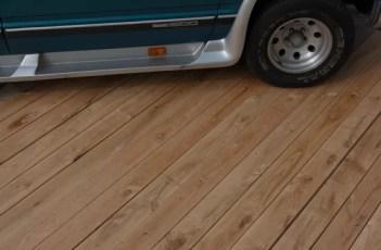 Buitenvloer eikenhout