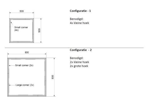 Straightcurve Box - Vierkant configuratie 1 en 2