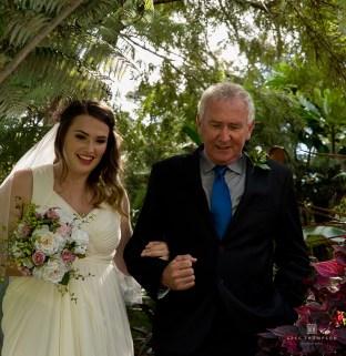 Hannah's entrance at her wedding