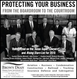 When you're a powerful corporate law firm, even though your clients keep you busy daily, you still have to promote your regular accomplishments in advertising. Although this ad is several years old now, we're very proud that we've been able to continue providing service to Brown Dean as they have grown and changed, including putting a completely new face on their former web presence.