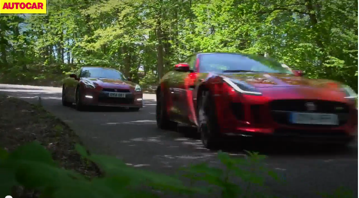 Jaguar F type R coupe VS Nissan GT-R, the battle of the 550ps' ジャガーFタイプRクーペVS日産GT-R最高出力550㎰バトル