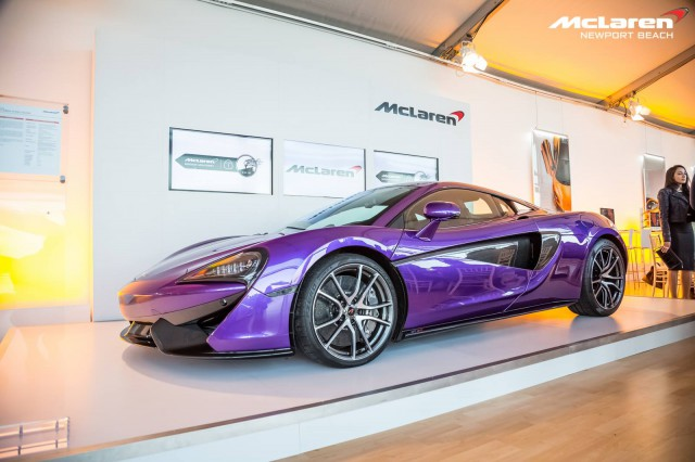 Purple McLaren 570S and Ugo Colombo