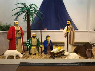 Life-size Nativity owned by the Shrine