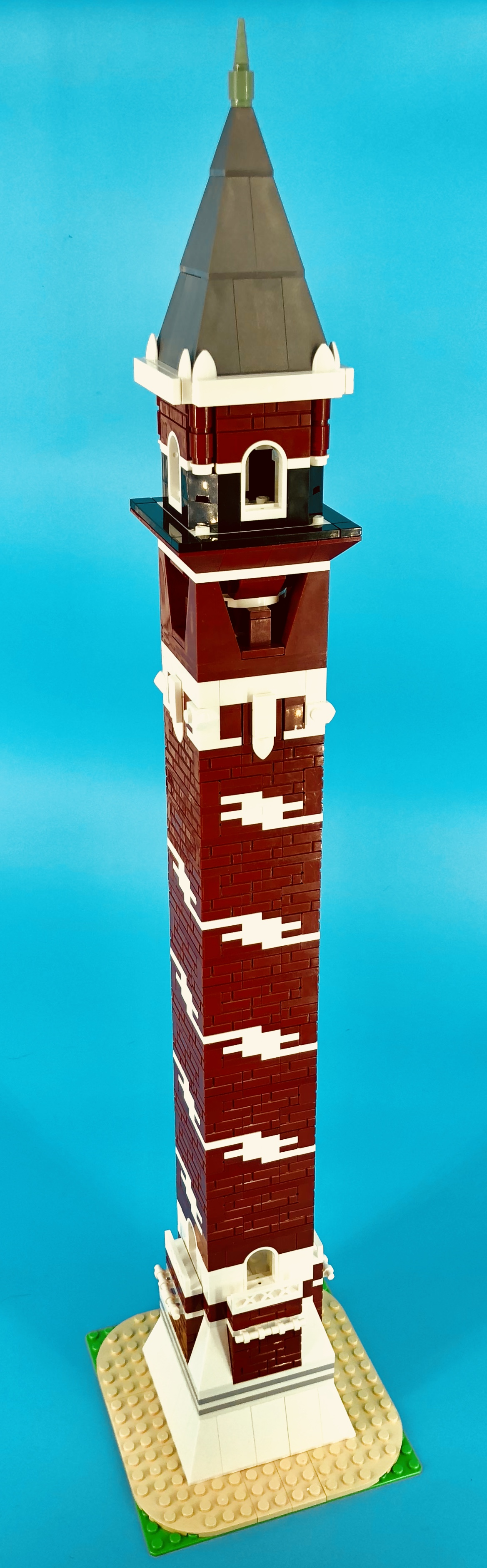 A MOC of the Bissell Street Water Tower shown off at the club's March 2018 meeting.