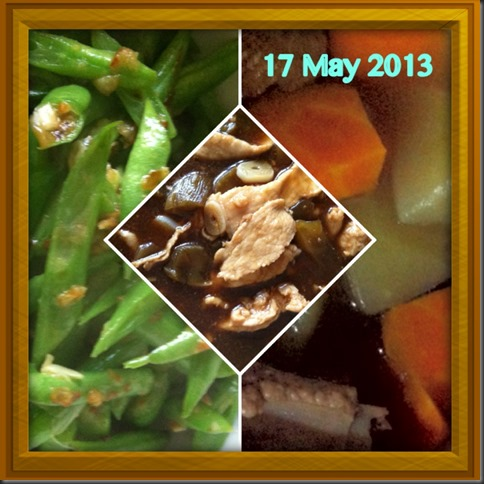 What I cooked today (家常便饭系列)- 17-5-2013