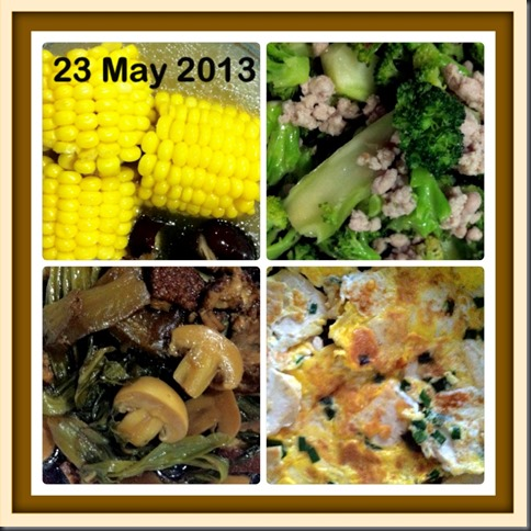 What I cooked today (家常便饭系列)- 23-5-2013