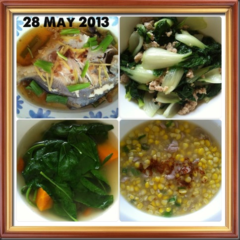 What I cooked today (家常便饭系列)- 28-5-2013