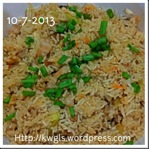 What I cooked today (家常便饭系列)- 10-7-2013
