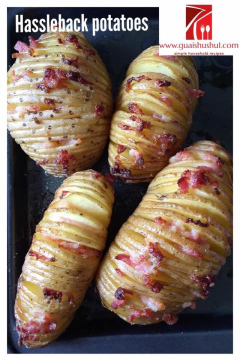 Don't Sandwich Me, I Can't Breathe … Baked Hasselback Potatoes With Bacon And Mozzarella Cheeses..