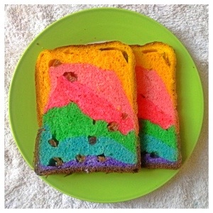How I Wish This World Is As Colourful As A Rainbow–Cranberries Raisins Rainbow Loaf